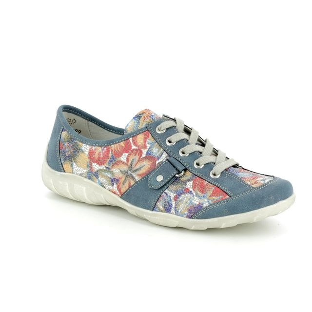 Remonte Lacing Shoes - Blue - R3431-12 LIVLOOP
