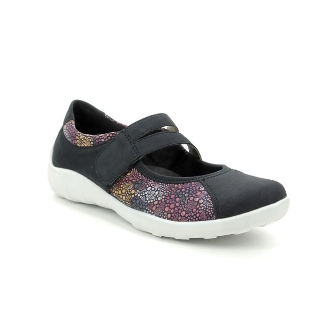 Remonte Mary Jane Shoes - Navy Multi - R3510-14 LIVSOFT