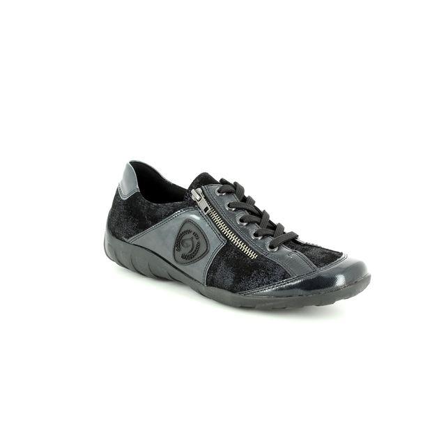 Remonte Lacing Shoes - Navy patent - R3409-14 LIVZIP 85