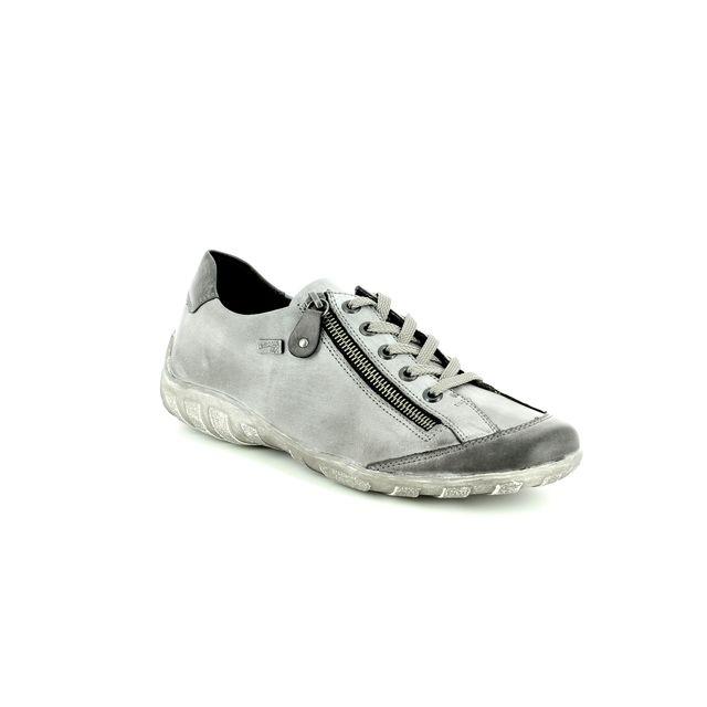 Remonte Lacing Shoes - Grey matt leather - R3423-02 LIVZIP 85 TEX