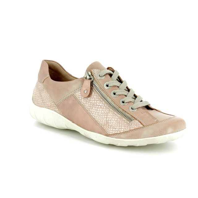 Remonte Lacing Shoes - Pink - R3419-31 LIVZIPA
