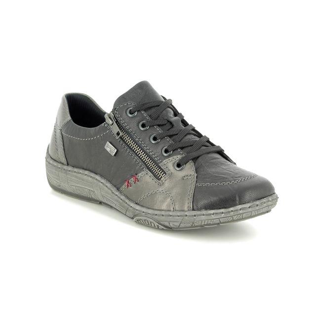 Remonte Lacing Shoes - Black Multi Leather - D3819-02 LUVZIP TEX