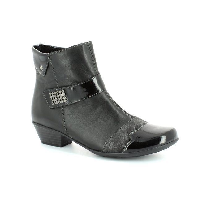 Remonte Millboot D7394-02 Black ankle boots