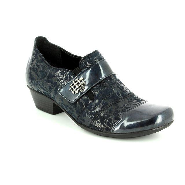 Remonte Shoe-boots - Navy patent-suede - D7333-15 MILLUX 72