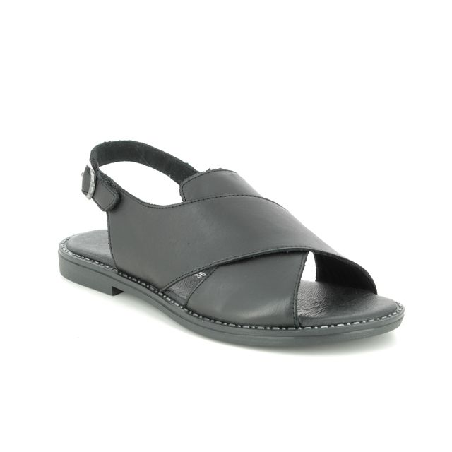 Remonte Flat Sandals - Black leather - D3650-01 ODESS