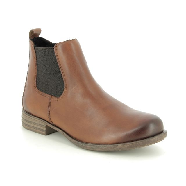 Remonte Chelsea Boots - Tan Leather  - R0970-24 PEACHY