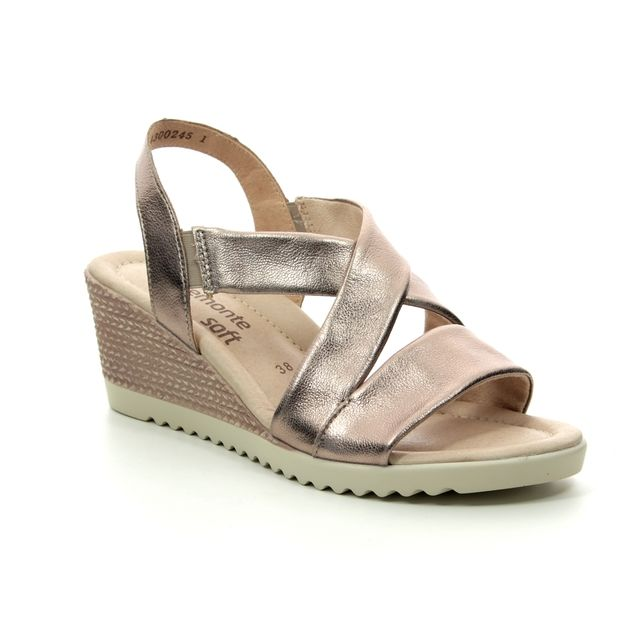 Remonte Wedge Sandals - Pewter - D3446-90 ROBFONTE