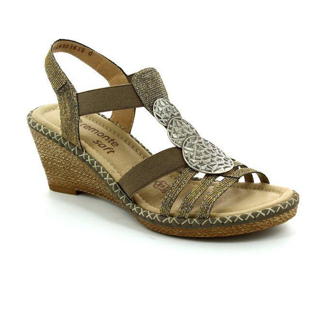 Remonte Robonew D6747-91 Metallic sandals