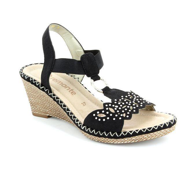 Remonte Robonte D6756-01 Black sandals