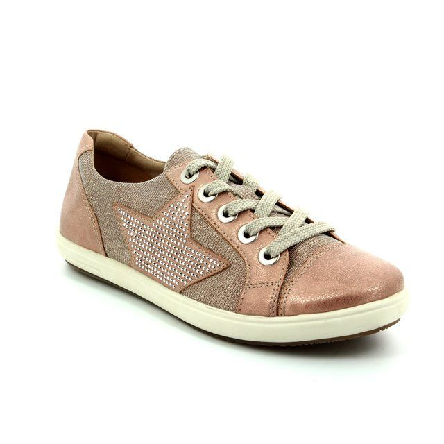 Remonte Star D9105-31 Pink multi lacing shoes