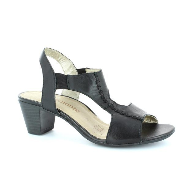 Remonte Strik R9252-01 Black heeled shoes