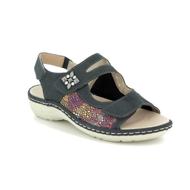 Remonte Comfortable Sandals - Navy - D7647-14 SUNNY