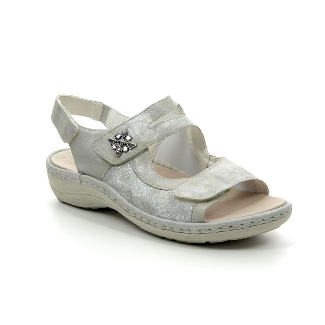 Remonte Sunny D7647-90 Silver multi sandals