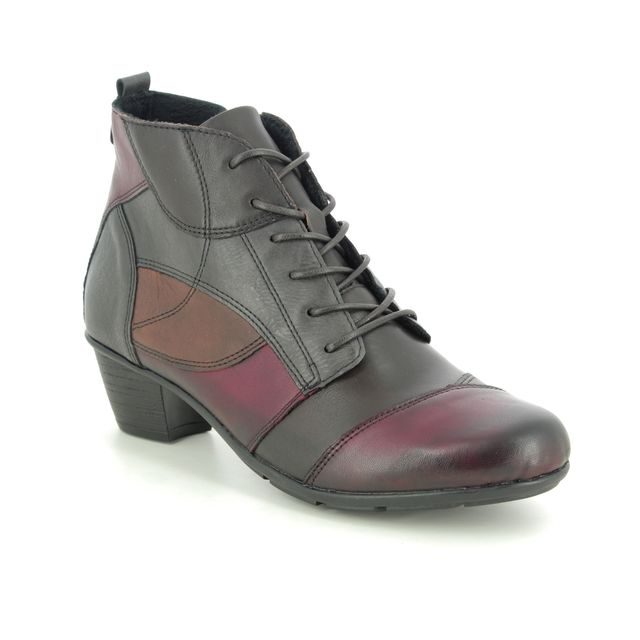 Remonte Lace Up Boots - Wine - R7578-90 TRASTEF