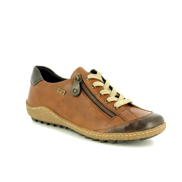 Remonte Lacing Shoes - Tan - R4703-22 ZIGGY TEX