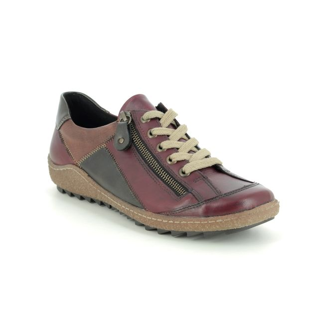 Remonte Comfort Shoes - Wine leather - R4702-37 ZIGPATCH