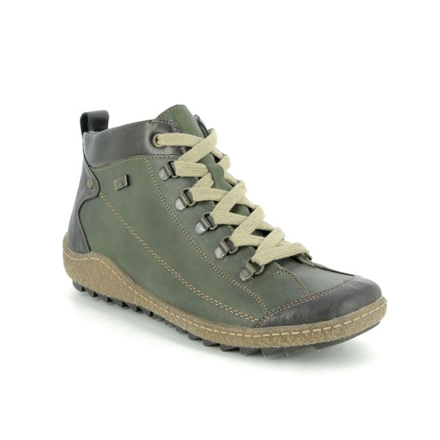 Remonte Lace Up Boots - Green - R4779-52 ZIGSEIBEL TEX