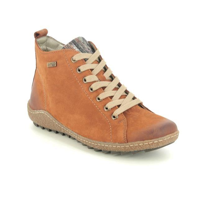 Remonte Zigseilace R4789-22 Tan Nubuck Lace Up Boots