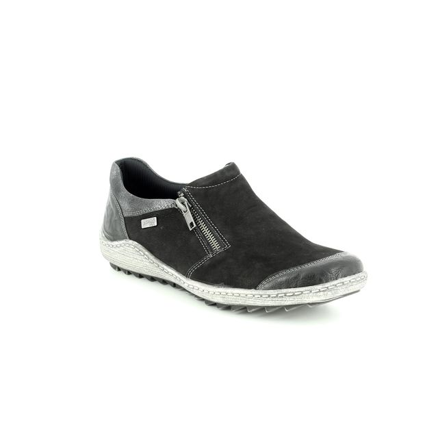 Remonte Comfort Shoes - Black suede - R1403-02 ZIGSHU 82 TEX