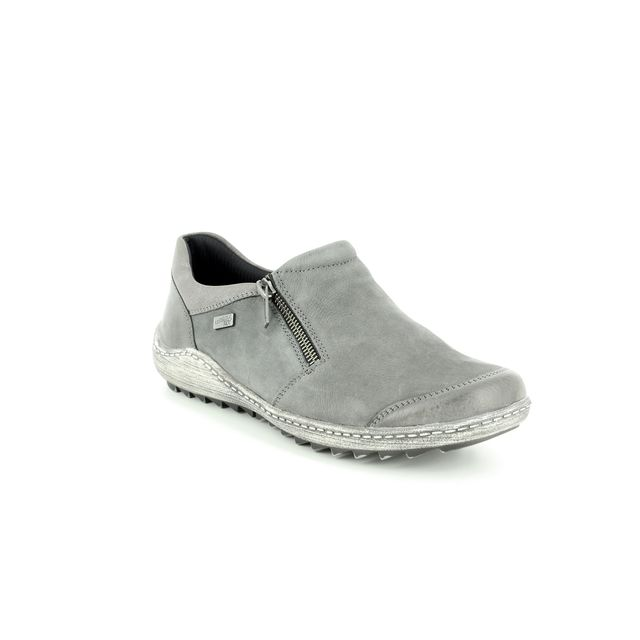 Remonte Comfort Slip On Shoes - Grey - R1403-45 ZIGSHU TEX