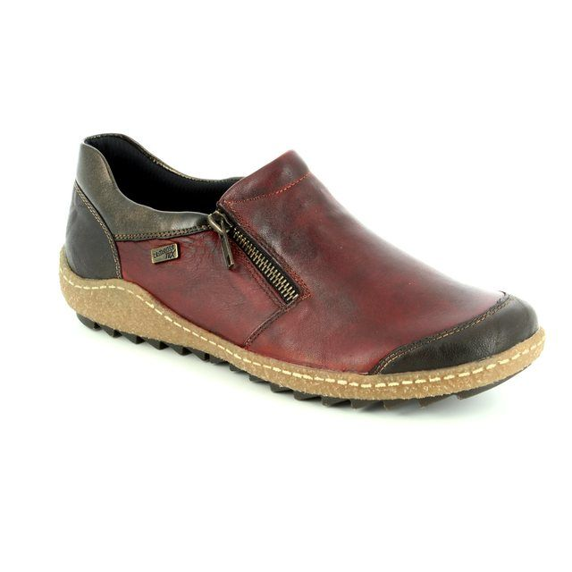 Remonte Comfort Shoes - Red multi - R4701-35 ZIGSHU TEX