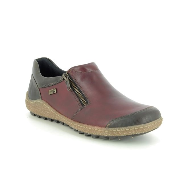 Remonte Comfort Slip On Shoes - Wine leather - R4701-36 ZIGSHU TEX