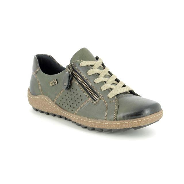 Remonte Lacing Shoes - Green - R4717-54 ZIGSPO TEX