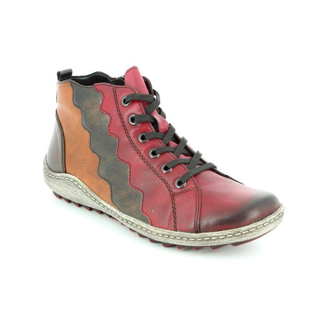 Remonte Ankle Boots - Wine multi - R1474-35 ZIGWAVE