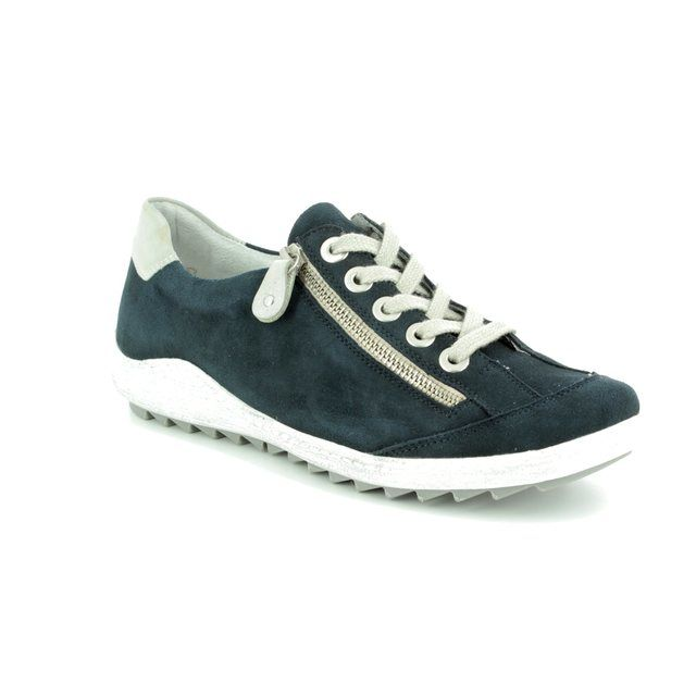 Remonte Lacing Shoes - Navy - R1402-14 ZIGZIP 81