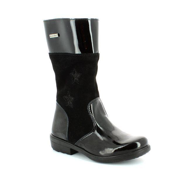 Ricosta Boots - Black patent - 77240/093 HANNAH 52 TEX