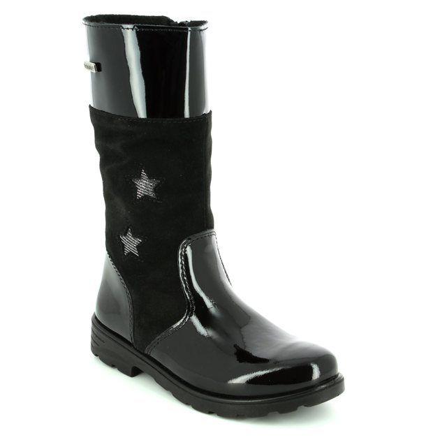 Ricosta Boots - Black patent - 72234/093 HANNAH TEX 72