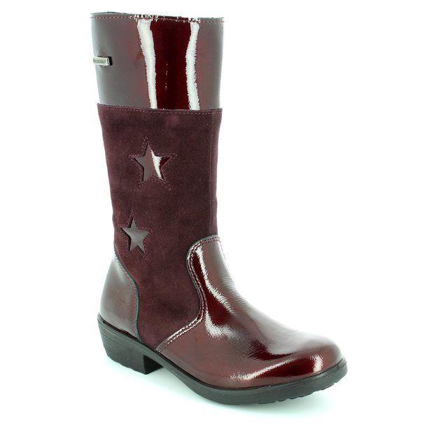Ricosta Boots - Wine patent - 77240/382 HANNAH TEX