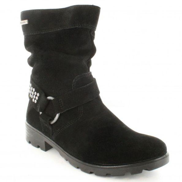 Ricosta Boots - Black suede - 72213/093 RAQUEL TEX