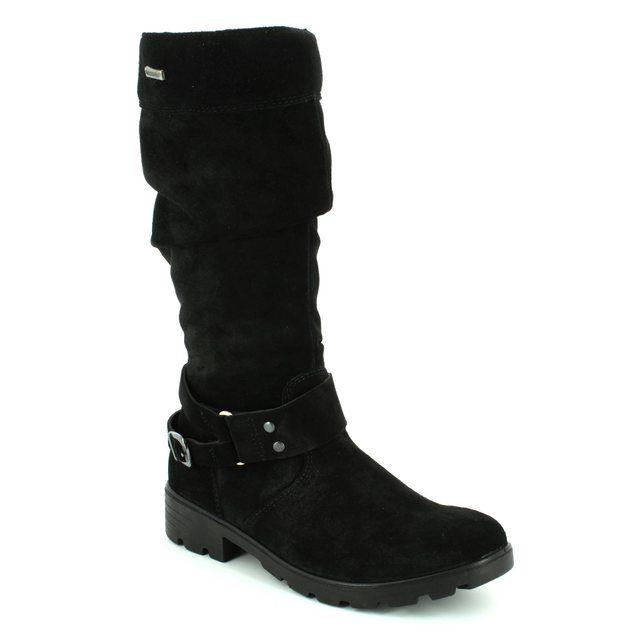 Ricosta Boots - Black suede - 72220/090 RIANA TEX 72