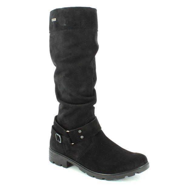 Ricosta Riana Tex 72201-091 Black suede boots