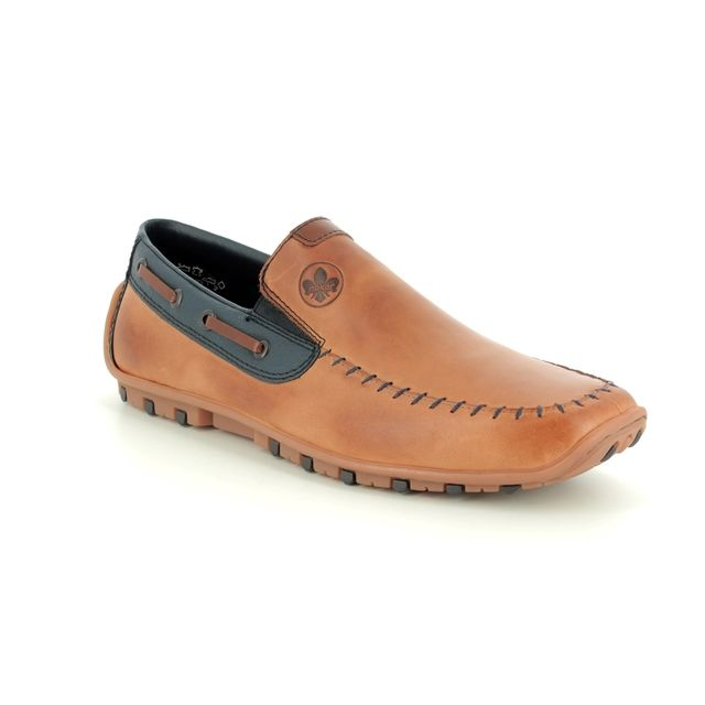 Rieker 08970-25 Tan Leather Loafers