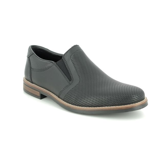 Rieker Slip-on Shoes - Black leather - 13571-00 ADPERSLIP