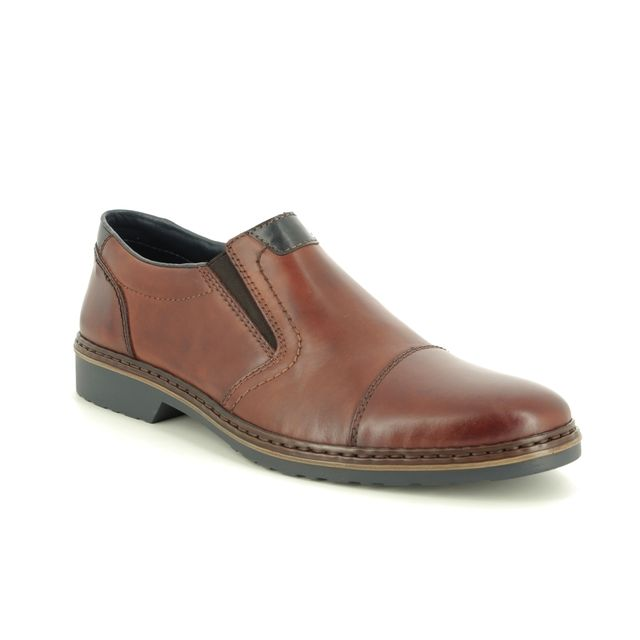 Rieker Slip-on Shoes - Tan Leather - 16559-25 DEXTROLI