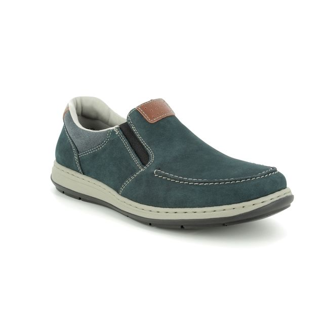 Rieker Casual Shoes - Navy-Tan - 17360-15 BASTION