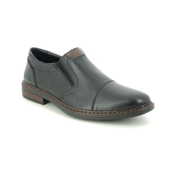 Rieker Slip-on Shoes - Black leather - 17659-00 CLERKDEX