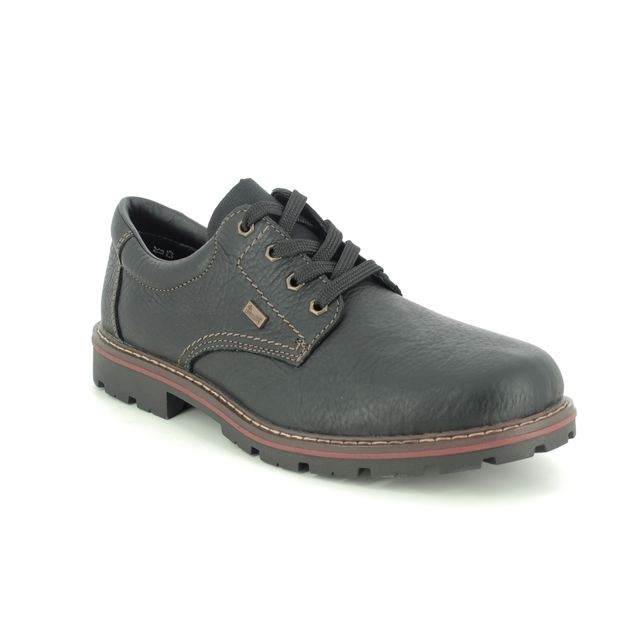 Rieker Casual Shoes - Black leather - 17710-00 MITCHUM TEX