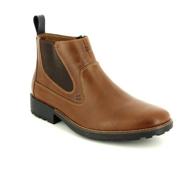 Rieker Boots - Tan - 36062-25 RONNIE