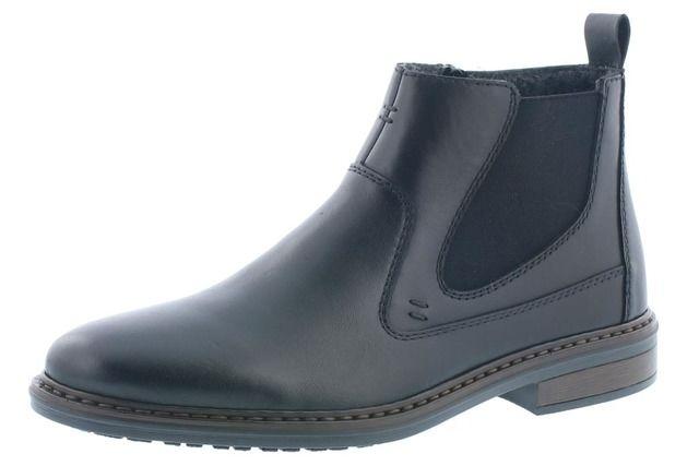 Rieker Chelsea Boots - Black leather - 37662-00 RONDON