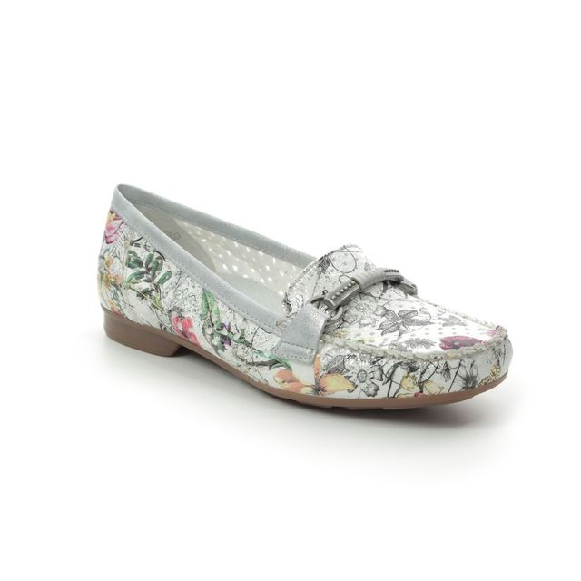Rieker Loafers - Floral print - 40055-90 CALIFLO