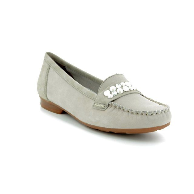 Rieker Loafers - LIGHT GREY SUEDE - 40081-42 TESSPERL