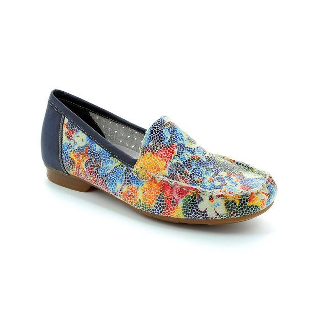 Rieker Loafers - Floral print - 40089-91 MOZFLO