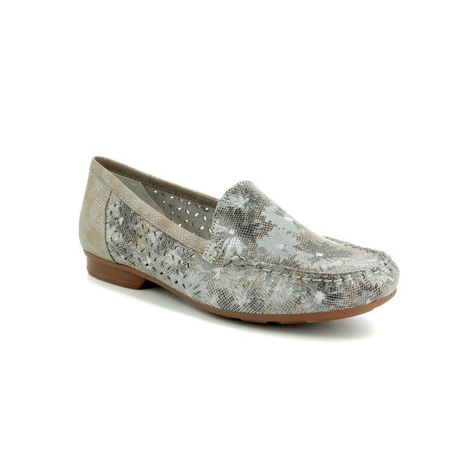 Rieker Loafers - Taupe multi - 40089-94 MOZFLO