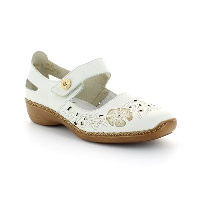 Rieker 41348-80 Off white multi comfort shoes