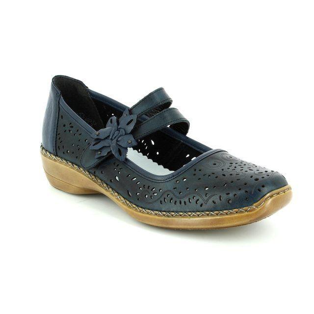 Rieker Lacing Shoes - Navy - 41372-14 DORISBAR