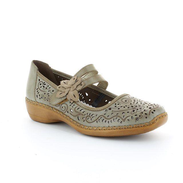 Rieker 41372-63 Beige lacing shoes